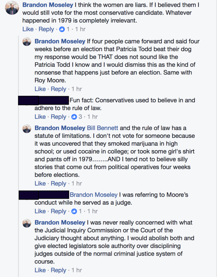 Brandon Moseley APR Roy Moore Pt 1